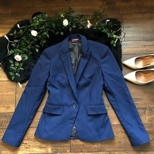 Express Blue Blazer Fitted